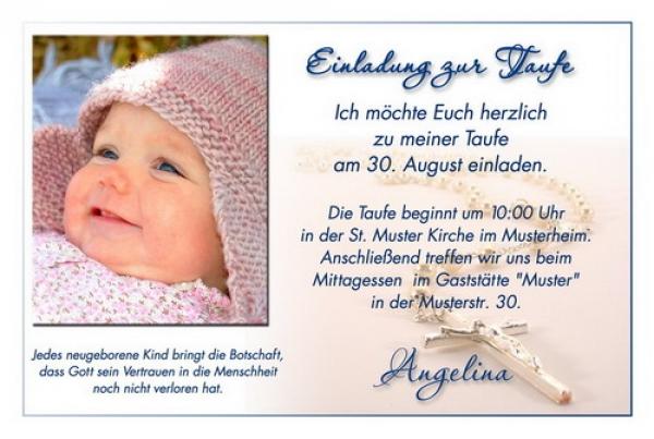 Einladungskarten Taufe Einladungskarten Taufe Zum: Einladungskarte Zur Taufe Mit Fotos